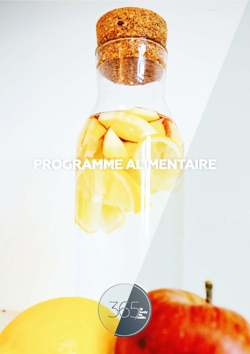 Couverture plan alimentaire 365 Body By Lucile