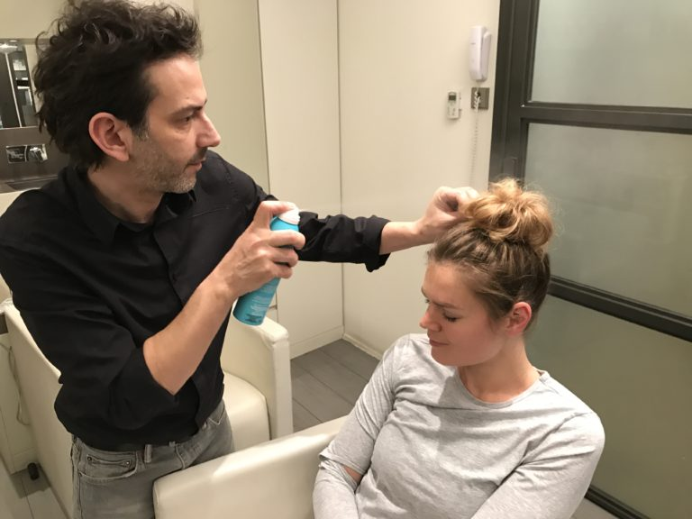 Messy bun Lucile Woodward